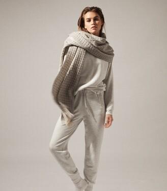 Reiss Jules - Brushed Loungewear Joggers in Grey