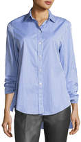 Joseph Thomas Striped Button-Front Tie-Cuff Shirt
