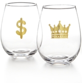Celebrate Shop Celebrate Shop Bling 2-Pc. Stemless Wine Glass Set