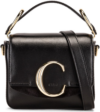 Chloé C Mini Box Bag in Black | FWRD