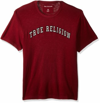 True Religion Men's Embroidered Logo Arch Tee