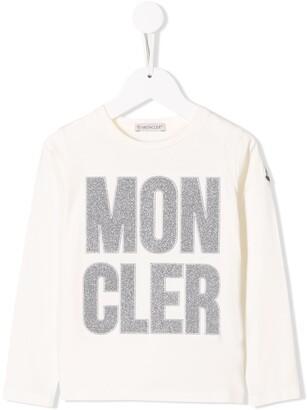 Moncler Enfant glitter logo T-shirt