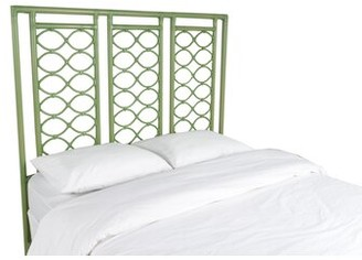David Francis Furniture Infinity Open-Frame Headboard Color: Camel Brown, Size: Queen