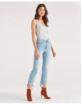7 For All Mankind High Waist Slim Kick With Long Side Hem In Vail