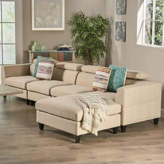 Bronx Ivy Lundberg Right Hand Facing Modern Extended Deep Seated Chaise Modular Sectional Ivy