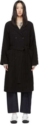 Raquel Allegra Black Raglan Trench Coat