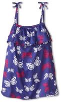 Hatley Graphic Butterflies Ruffle Tank Top (Toddler/Little Kids/Big Kids)