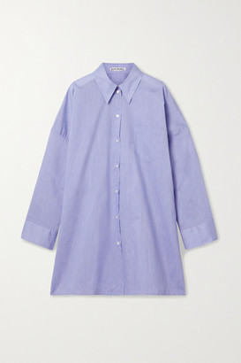 Acne Studios Oversized Cotton-blend Poplin Shirt - Azure