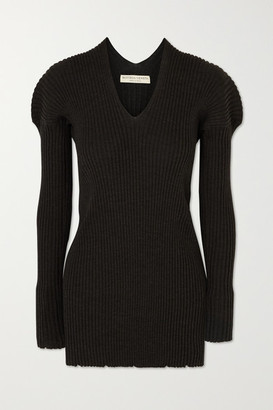 Bottega Veneta Ribbed Wool Sweater - Charcoal