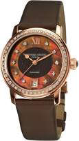 Frederique Constant Ferique Constant Women's FC303CHD2PD4 Ladies Automatic Diamond Brown Dial Watch