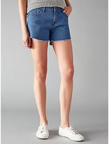 WÅVEN Tyra Cut Away Denim Shorts, Powder Blue