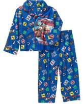 AME Sleepwear DISNEY CARS MCQUEEN MATER Boy'sT Flannel Coat Pajama Set, PJ'S