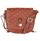 Somerset by Alice Temperley Berkley Stars Leather Across Body Bag, Bourbon