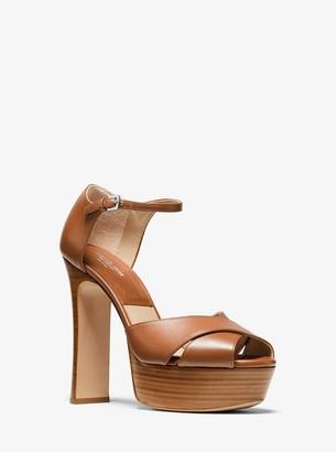 MICHAEL Michael Kors Huxley Leather Platform Sandal