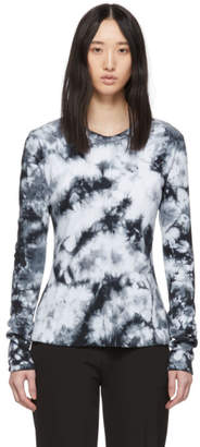 Proenza Schouler White and Black PSWL Tie-Dye Long Sleeve T-Shirt