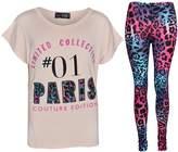 A2Z 4 Kids® Girls Top Kids Paris Couture Edition Print Top & Fashion Legging Set 7-13 Yr
