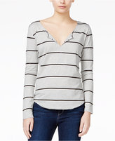 Joe's Jeans Aleta Striped Split-Neck Top