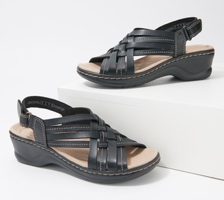 Clarks Collection Woven Leather Sandals - Lexi Carmen