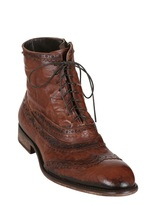 Jo Ghost Washed Leather Lace-Up Boots