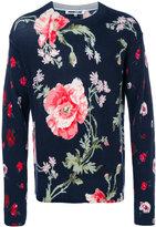 McQ by Alexander McQueen floral print crew jumper - men - Wool - M