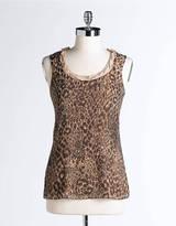Tahari Leopard Print Mila Tank Top