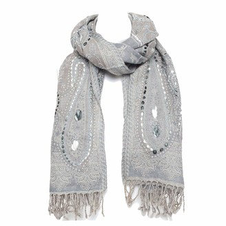 Casa Moro | Oriental XXL Long Scarf 20B 70 x 180 cm 100% Wool Premium Quality Handmade Pashmina with Paisley Pattern and Hand Stitched Winter Scarf Natural Fibre | A902C20B