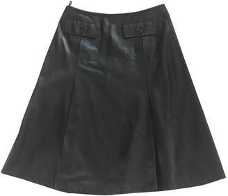 Sportmax Black Leather Skirt for Women