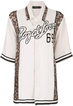 Dolce & Gabbana Royal Love leopard trim shirt