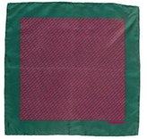 Hermes Stirrup Print Silk Pocket Square