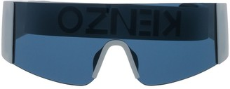 Kenzo Mask-Style Square-Frame Sunglasses