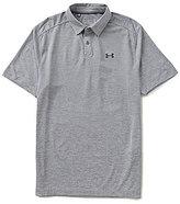 Under Armour Golf Threadborne Jacquard Short-Sleeve Polo Shirt