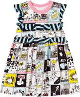 Fendi Space Monster Print Frill Dress