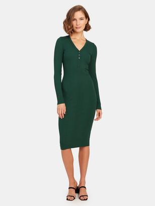 NSF Sarah Henley Midi Dress