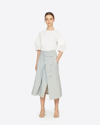 3.1 Phillip Lim Denim Trench Skirt