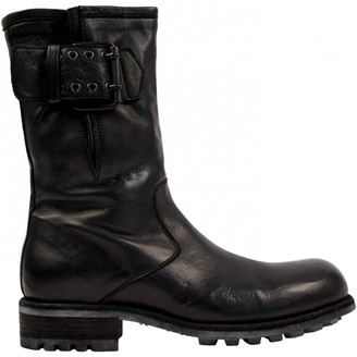 N. Non Signé / Unsigned Non Signe / Unsigned \N Black Leather Boots