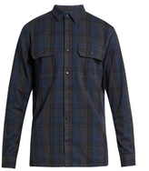 Vince Checked Long-sleeved Cotton Shirt