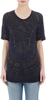 "Raquel Allegra Women's ""Men's"" T-Shirt-BLACK, NAVY"