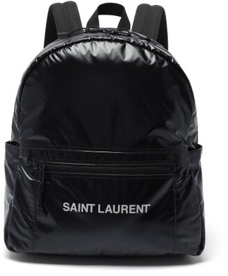 Saint Laurent Nuxx Logo-print Nylon Backpack - Black