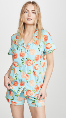 Bedhead Pajamas Peach Blossom Short Sleeve Classic Shorty PJ Set