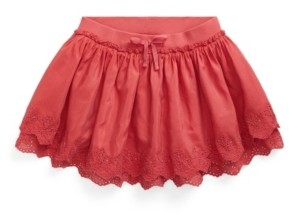 Polo Ralph Lauren Toddler Girls Eyelet Scooter Skirt