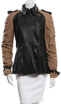 Burberry Leather-Accented Short Coat