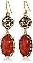 "Barse Canyon"" Red Sponge Coral Drop Earrings"