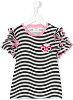 Fendi striped T-shirt - kids - Cotton/Spandex/Elastane - 12 yrs