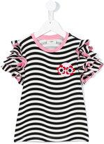 Fendi striped T-shirt - kids - Cotton/Spandex/Elastane - 8 yrs