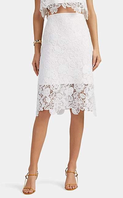923a6920d White Satin Pencil Skirt - ShopStyle