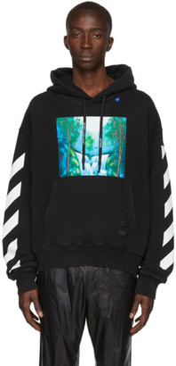 Off-White Off White Black and Multicolor Waterfall Hoodie