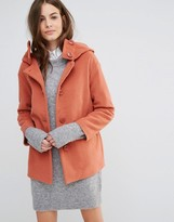Sisley Hooded Button Up Coat
