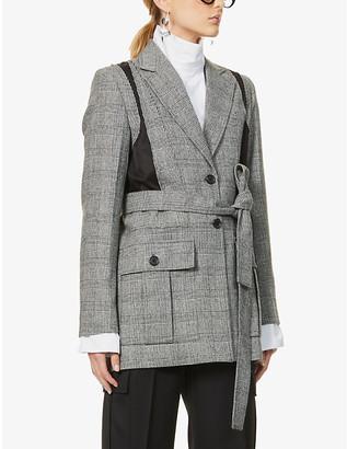 J.W.Anderson Contrast panel wool-blend jacket