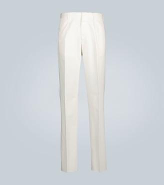Ermenegildo Zegna Cotton-blend straight-leg pants