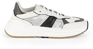 Bottega Veneta 250 Speedster Stripe Leather & Mesh Sneakers